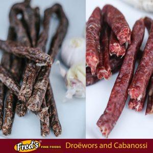 Droëwors and Cabanossi